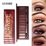 CMrtew Best Pro Eyeshadow Palette Makeup - Matte + Shimmer 12 Colors - High Pigmented - Professional Warm Natural Bronze Neutral Smokey Cosmetic Eye Shadows (Color: Multicolor, Tamaño: 21.2X6.5x1.3 cm)