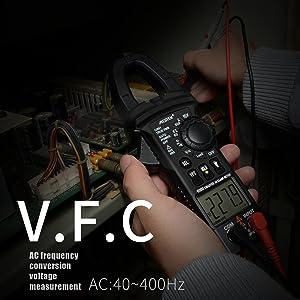Digital Clamp Meter Multimeters MESTEK AC DC Multimeter Current Voltage Voltmeter Autoranging Electric Tester Ohm Hz Amp Volt Diode Resistance 6000 Counts NCV VFC Accurate Test Kit (Color: Black, Tamaño: 191*70*31mm)