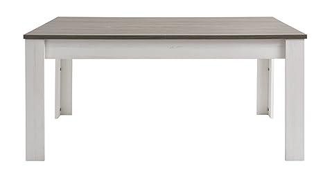 Demeyere 216286 Marquis Table avec Allonge Panneau Particule Pin Andersen/Chêne Pirata 230 x 90 x 77,2 cm