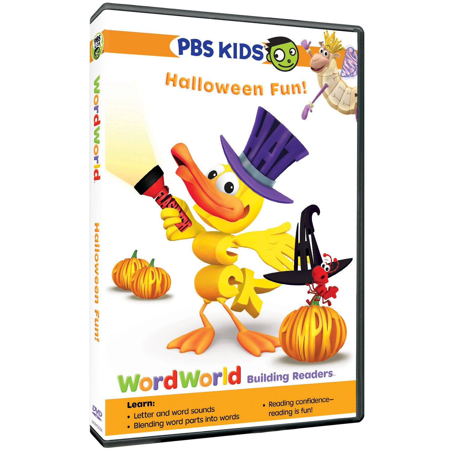 in the frightfully fun dvd wordworld halloween fun join the wordfriends on adventures that demonstrate the connections between letters sounds words