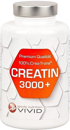 CREATIN 3000+ Crea-Trona Kapseln - Gepuffertes Premium Marken-Kreatin aus Deutschland mit einzigartiger, patentierter Formel. Die Nr.1 bei Kraftsportlern (120 Creatin Monohydrat Kapseln fur 30 Trainingstage)