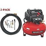 C2002-WK Oil-Free UMC Pancake Compressor with 13-Piece Accessory Kit (Compressor w/accessory kit (2-Pack))