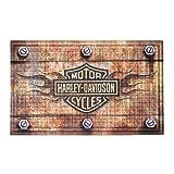 Harley-Davidson Embossed Flames Bar & Shield Entry Floor Mat, Brown 41EM4901 (Color: Brown, Tamaño: 30