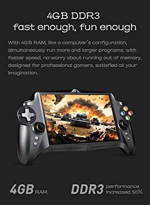 New JXD S192K 7 inch IPS screen 4GB+64GB quad core tablet pc gamepad android game console 10000mAh battery bluetooth support Google Store andriod game/pc game/18 simulators game support button mapping (Color: Black)