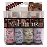 Tuskineko Walnut Ink Sampler II, 4-Pack (Color: Assorted, Tamaño: Cherry Blossom, Cornflower, Willow, Lilac)