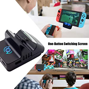Replacement for Nintendo Switch Dock, Charge and Play Portable