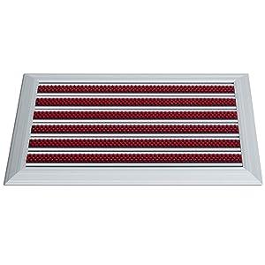 Alu Fußmatte Power Mat Brush mit Nylonbürsten  3 Größen  38x60cm  BaumarktKundenbewertung: