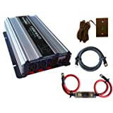 VertaMax Pure SINE Wave 1500 Watt (3000W Surge) 12V Power Inverter DC to AC Power (Cables + Remote Control Switch + ANL Fuse) - Solar, RV (