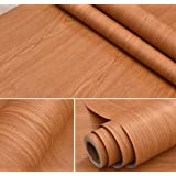 BESTERY Adhesive Brown Wood Grain Contact Paper Furniture Stickers Wallpaper Cabinets Wardrobe Contact Paper,15.8inch by 98in (Color: Brown, Tamaño: 17.7Wx98L)