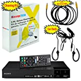 Sony BDP-S6700 4K Upscaling 3D Streaming Blu-ray Disc Player With Built In Wifi - 5 Pack Kit - Remote Control - 5 Pc Cleaning Kit - 12 FT High speed HDMI Cable - Xtreme Ear Buds (1 Year Warranty) (Color: Black)