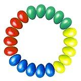 Kabi 20pcs Shaker Eggs Plastic Musical Egg Shaker with 4 Colors Kids Maracas Egg Percussion Toys