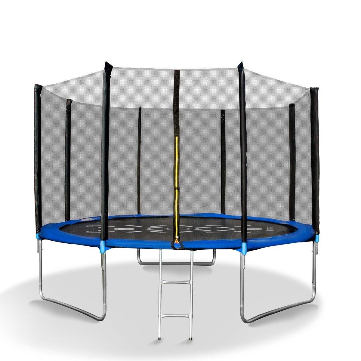 Trampolin Gartentrampolin 305 cm mit Netz und Leiter Schwarz-Blau online bestellen