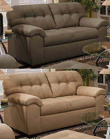 Simmons Upholstery 9558 Velocity Loveseat Shitake