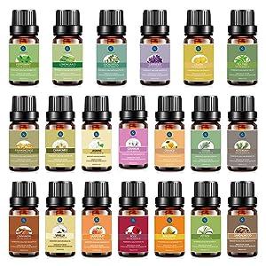 Lagunamoon Premium Essential Oils Set Top 20 Pure Natural