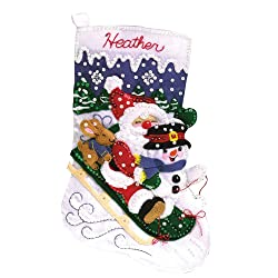 Christmas Fun Stocking Felt Applique Kit-16-1/2 Long