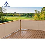 Alion Home Elegant Privacy Screen for Backyard Deck, Patio, Balcony, Fence, Pool, Porch, Railing. Banha Beige 35 inches Height (35'' x 12') (Color: Banha Beige, Tamaño: 35'' x 12')