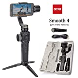 Zhiyun Smooth 4 3 Axis Gimbal Steadicam Stabilizer For Samsung,Huawei,IPhone X 8 Gopro Hero 5 SJCAM SJ7 Xiaomi Yi 4k Action Camera(The Latest Version (Black) (Color: Black smooth 4)