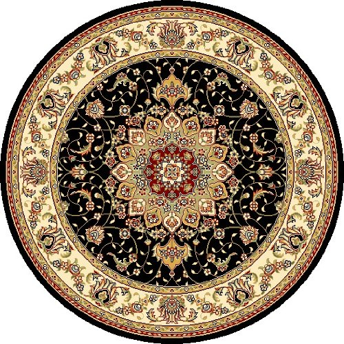 Traditional Isfahan Persian Area Rugs Black 9 X 12 5