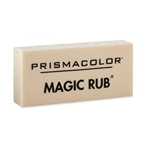 Prismacolor Premier Magic Rub Vinyl Erasers, 3-Count (Color: WHITE, Tamaño: 3 Pack)