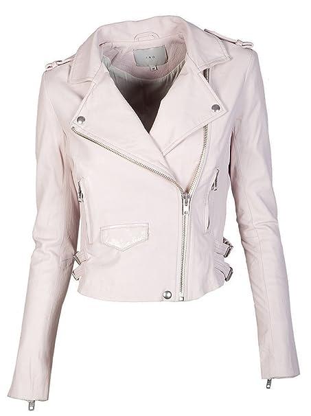 IRO Damen Lederjacke Gipsy Bikerjacke Jacke Leder - Leder - rot