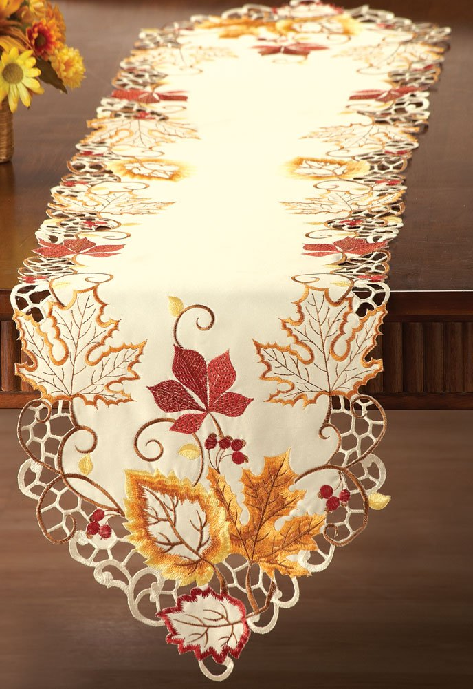 Thanksgiving leaves table runners wikii
