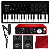 M-Audio Axiom AIR Mini 32 USB MIDI Keyboard with Focusrite Scarlett 2i2 USB Audio Interface, Marantz Pod Pack 1 USB Microphone Kit, and Premium Bundle