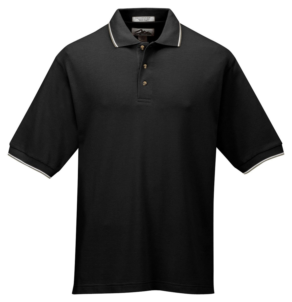 Mesh Knit Two Tone Collar Tri Mountain Golf Shirt