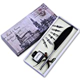 FEATTY Quill Pen Set Antique Dip Feather Pen Calligraphy Writing With 6 PCS Nibs (Black) (Color: Black)