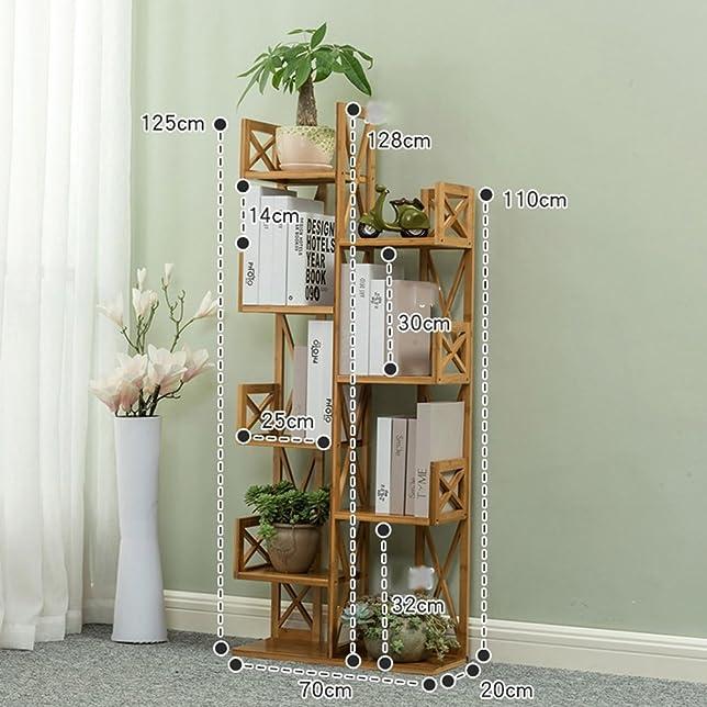 FEIFEI Scaffali combinati multifunzionali di arte di bambù del pavimento dello scaffale per libri ( dimensioni : 70*20*125CM )