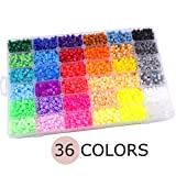 Baby Love Home 36 Color Hama Beads 10000pcs Perler Beads 5mm Fuse Beads 2 Template+5 Iron Paper+2 Tweezers Jigsaw Toy Christmas Gift