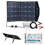 ACOPOWER 12V 70 Watt Foldable Solar Panel Kit; Portable Solar Charger Suitcase of 2x35W Monocrystalline Module & 10A Charge Controller for RV, Boats, Camping; w USB 5V Output as Phone Charger (Tamaño: 2x35W PV)