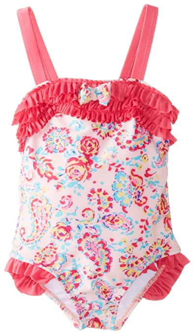 ABSORBA Baby-Girls Infant Floral Pink Swim Suit