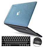 PapyHall Bling Glitter Design Rubberized Coated Plastic Case & Keyboard Cover for MacBook Pro 15