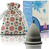 Athena Menstrual Cup - #1 Recommended Period Cup Includes Bonus Bag - Size 2, Solid Black - Leak Free Guaranteed! (Color: Solid Midnight Black, Tamaño: Size 2)