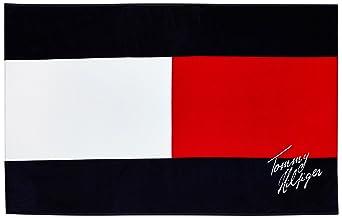 tommy hilfiger flag flag serviette de plage logo homme bleu evening. Black Bedroom Furniture Sets. Home Design Ideas