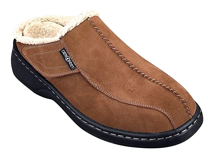 Orthofeet Asheville Mens Slippers 10.5 M US