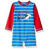 Hatley Baby Boys Mini One Piece Rash Guard, Surf Island, 9-12 Months