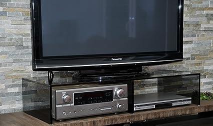 Glas TV Aufsatz PONTE II Brucke Erhöhung 2 Höhen und 4 Glassorten