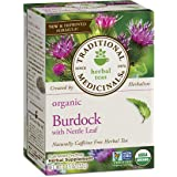 Traditional Medicinals Organic Burdock with Nettle Herbal Leaf Tea, 16 Tea Bags (Color: Multi, Tamaño: Pack of 1)