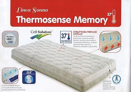 Materasso Lettino, Thermosense Memory, 63x123x12cm di QuestiBimbi®