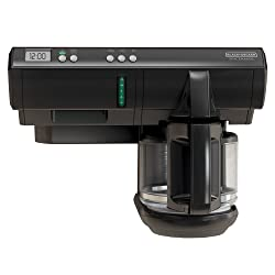 BLACK+DECKER Space Maker 12-Cup Programmable Coffee Maker, Black