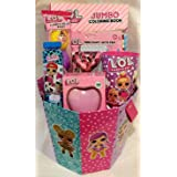 Deluxe LOL Doll Themed Easter Basket w/Coloring Book, Grab N Go Play Pack, Wallet, Stickers, Mini Diary and More