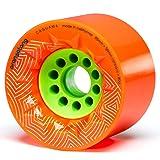 Orangatang Caguama 85 mm 80a Downhill Longboard Skateboard Cruising Wheels (Orange, Set of 4) (Color: Orange, 80a, Tamaño: w/o bearings)