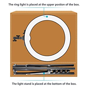 Neewer 18 Dimmable Fluorescent Ring Light Kit: 75W 5500K Ring Light, Light Stand, Soft Tube, Filter and Bag for Photography YouTube Self Video Make-up (Color: Black, Tamaño: 67x56x11cm)