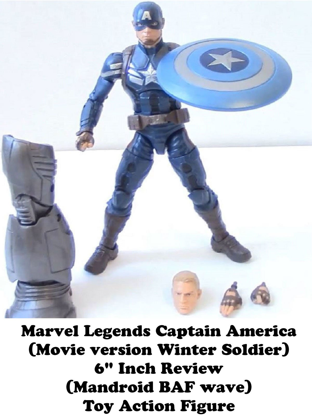 "Review: Marvel Legends Captain America (Movie version Winter Soldier) 6"" Inch Review (Mandroid BAF wave) Toy Action Figure"