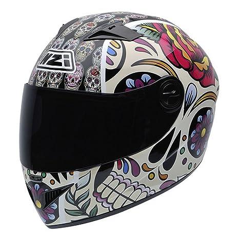 NZI 050261G582 Must Mexican Skulls Casque de Moto, Claveras Mexicaines, Taille : M