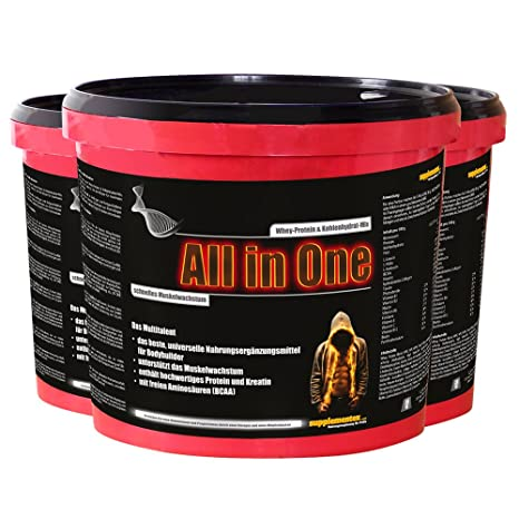 Das neue ALL in ONE! 3 Eimer Cappuccinogeschmack Whey-Protein Kohlenhydrat-Mix Multitalent Muskelwachstum Anabolika hochwertiges Kreatin BCAAs Shake