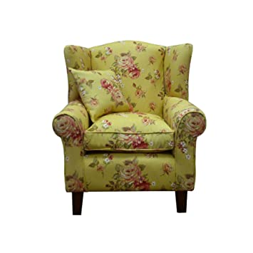 Wing Back Armchair - Lounge Furniture - Fireside Chairs - Kew Oatmeal