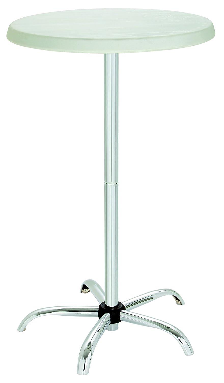 Bistro - Stehtisch München 70cm rund, Gestell Metall zerlegbar, Tischplatte Kunststoff