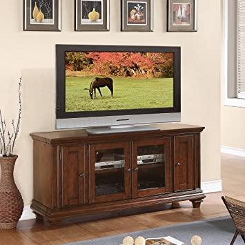 TV Cabinet in Warm Rum Finish